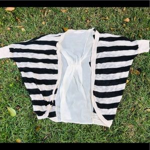 Lush cardigan stripe black
